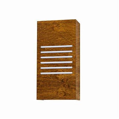 Arandela Riscos de Luz Clean Vertical Madeira Imbuia 30x15cm Accord Iluminação 2x E27 25W 459 Quartos e Salas