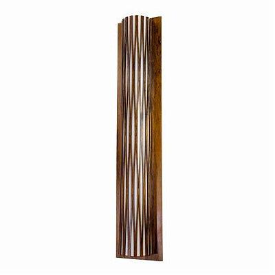 Arandela Living Hinges Meio Cilindrico Madeira Imbuia 50x20cm Accord Iluminação 2x E27 25W 4071 Mesas e Balcões