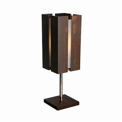 Abajur Filete Vertical Acrílico Madeira Imbuia 50x15cm Accord Iluminação 1x E27 25W Bivolt 617 Mesas e Salas