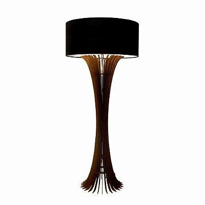 Coluna Stecche Di Legno Curva Cupula Madeira Imbuia 160x70cm Accord Iluminação 1x E27 Bivolt 363 Salas e Quartos