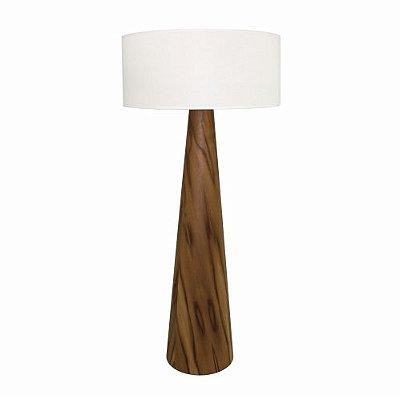 Coluna Cônica Vertical Cupula Redonda Madeira Imbuia 161x70cm Accord Iluminação 1x E27 Bivolt 3004 Salas e Quartos