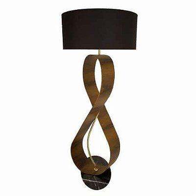 Coluna Infinito Curvo Vertical Cupula Madeira imbuia 170x70cm Accord Iluminação 1x E27 Bivolt 3016 Salas e Hall