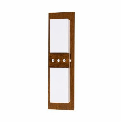 Arandela Cristais Acrílico Vertical Madeira Imbuia 55x15cm Accord Iluminação 2x E27 Bivolt 4046 Salas e Entradas