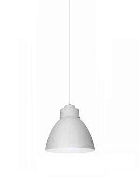 Pendente New Industrial Conico Oval Alumínio Branco 21x25cm Newline Lâmpada E27 25W SNT367BT Salas e Cozinhas