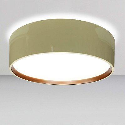 Plafon Circle Redondo Sobrepor Alumínio Acrílico 16,5x53cm Newline 6x E27 23W Bivolt SN10152NDCO Salas e Cozinhas