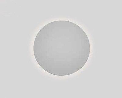Arandela Pleine Lune Redonda Sobrepor Acrílico 9x26,2cm Newline 1x E27 25W Bivolt IN40022BT Salas e Corredores