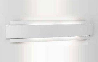 Arandela Courbe Curva Sobrepor Alumínio Branco 59x12,2cm Newline 3x PCI LED 6W 337LED1BT Corredores e Quartos