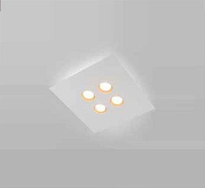 Plafon Domino LED Sobrepor Quadrado Metal Branco 4,8x45cm Newline PCI LED 24W 2700K 521LEDBTDO Salas e Hall