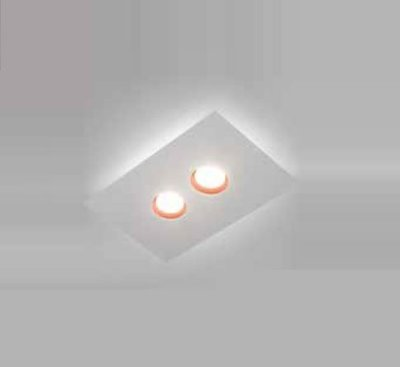 Plafon Domino LED Sobrepor Retangular Metal Branco 4,8x40cm Newline PCI LED 12W 2700K 522LEDBTDO Salas e Hall