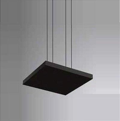 Pendente Tray LED Horizontal Quadrado Metal Preto 3,5x50cm Newline PCI LED 40W Bivolt 536LEDPT Salas e Entradas