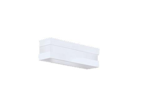 Arandela New Quadrus Alumínio Acrílico Branco 10,5x27cm Newline 1x E27 25W Bivolt 11786BT Entradas e Corredores