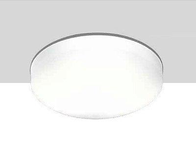 Plafon Pillow Sobrepor Vidro Branco Metal Redondo 11x25cm Newline 2x E27 25W Bivolt 1690BR Entradas e Quartos