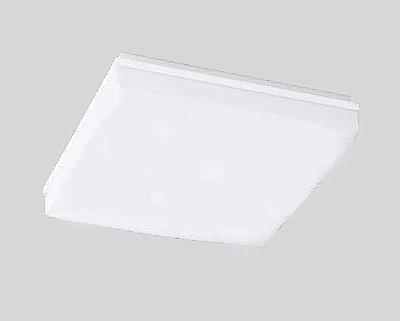 Plafon Pillow Sobrepor Vidro Branco Metal Quadrado 11x36cm Newline 3x E27 25W Bivolt 1696BR Entradas e Quartos