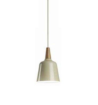 Pendente Wood Espiral Cônico Alumínio Acrílico 30x20cm Newline 1x E27 23W Bivolt SN10180NDBR Cozinhas e Salas