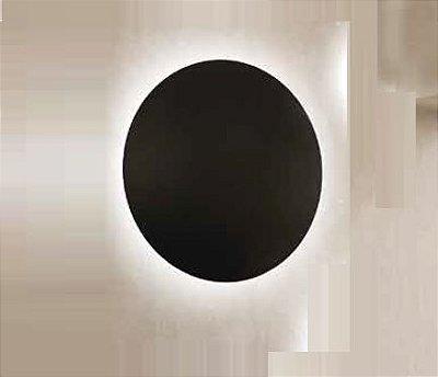Arandela Pleine Lune Redonda Sobrepor Acrílico 9x26,2cm Newline 1x E27 25W Bivolt IN40022PT Salas e Corredores