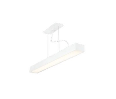 Pendente Sobrepor III LED Horizontal Metal Branco 11,8x63,8cm Newline 2x G13 T8 Tubular LED IN40331BT Balcões e Mesas