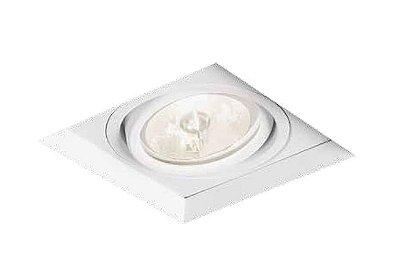 Spot No Frame II Embutido Quadrado Direcionável 10x13,6cm Newline 1x GU10/GZ10 AR111 LED IN61351BT Salas e Hall