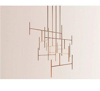 PENDENTE Klaxon LADDER Geométrico Tubular Moderno (preço por módulo) 110 cm x até 4 metros x 70 cm