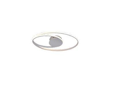 PLAFON QUALITY NLI PL1342BR METAL Aros Redondo esfera moderno 54X30X5CM LED 44W BRANCO