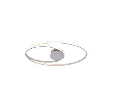 PLAFON QUALITY NLI PL1343BR METAL Aros Redondo esfera moderno 69X38X5CM LED 56W BRANCO