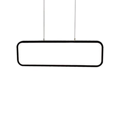 PENDENTE QUALITY NLI QPD1319PT LED Retangular Moderno Minimalista  50 x A15 cm 26W 3000K PRETO
