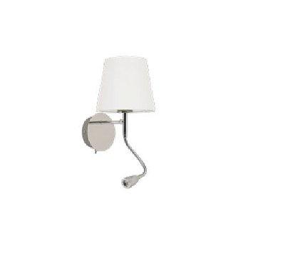 ARANDELA QUALITY NLI LED QAR1337CR Cupula Led Articulada Cabeceira 16 x A30 cm E27 METAL TEC CROMADA