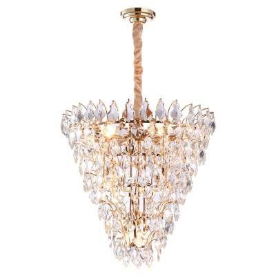 LUSTRE Bella PARIS AQ024S Cristais Triangular Imperial A65xD65  11xE14 Transparente Dourado