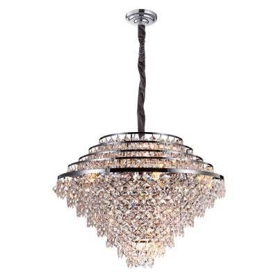 LUSTRE Bella PALACE AQ025L Cristais Redondo Imperial A70xD91 20xE14  Transparente Cromado