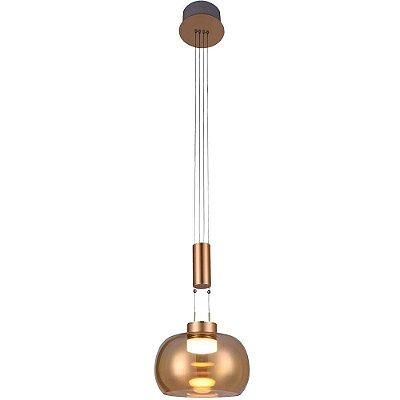 PENDENTE Bella BB008G IOIO Suspenso Moderno Cupula Vidro 22cm x 19cm  1 x LED 8,5W FRENCH GOLD