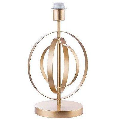 BASE PARA ABAJUR Bella MONDE GL004G Aramado Moderno Dourado 24cm x 40cm  1 x A60 40W
