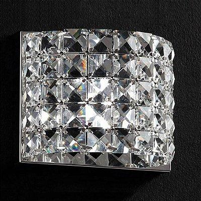 ARANDELA Bella HO2661W SONATA Cristal Lapidado  Cromado Transparente 13CMX9CMX13CM  1XG9