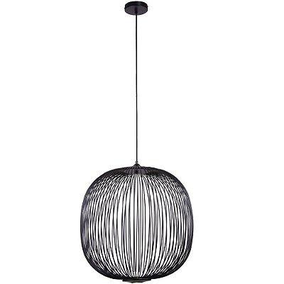 PENDENTE Bella KE006B ARAL Esfera Aramada PRETO 53cm x 55cm  LED 8W