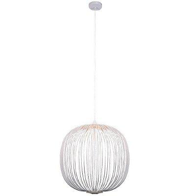 PENDENTE Bella KE006W ARAL Esfera Aramada BRANCO 53cm x 55cm  LED 8W