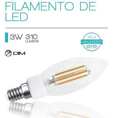 LAMPADA Bella FILAMENTO DE LED E14 3W 127V LP126A