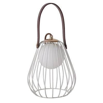 ABAJUR Bella LAMP ML001W Aramado Branco Marrom 18cm x 22cm  1xG9 BIVOLT