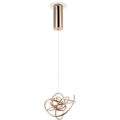 PENDENTE Bella WD017S NINHO Aros Moderno Em Led 23cm  ROSE GOLD 1 x LED 12W