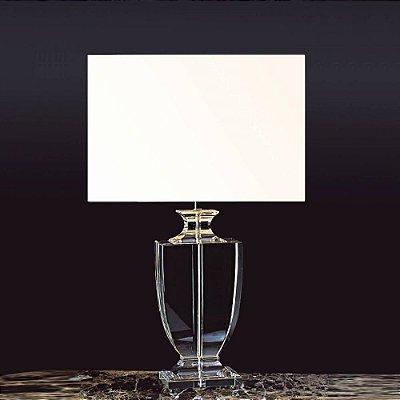 BASE P/ ABAJUR Bella XL1121 CLASSIC Pilar Cristal Cromado Transparente 43CM H 1XE27-