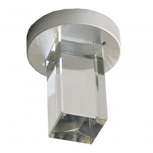 SPOT Bella YD262Q EMBUTIDO Quadrado FINE Cubo de Vidro Transparente 1XLED 1W