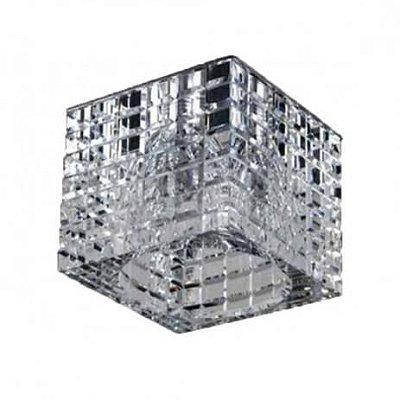 SPOT Bella YD892 EMBUTIDO Quadrado CRISTAIS Transparente 1XDICROICA