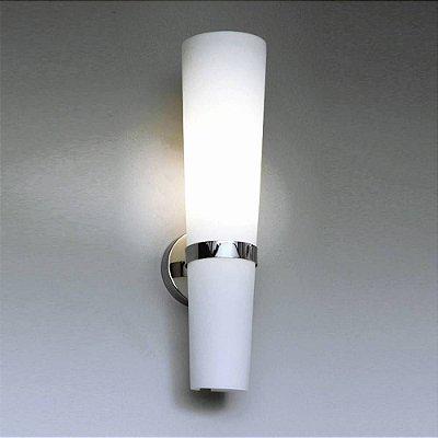 ARANDELA Bella ZD1117 Toucheiro EM ACO VIDRO Branco Cromado 11CMX45CM  1XE27