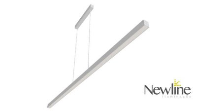 PENDENTE Newline 637LED3 FIT LED Perfil Clean 32W 3000K Luz Quente 127/220V 1140X25X28MM