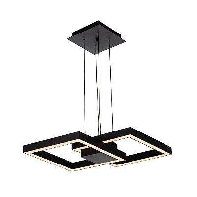 PENDENTE Newline 705LED3 FIT LED Perfil Moderno Pendurado 50,4W 3000K Luz Quente 127/220V 410X410X65MM