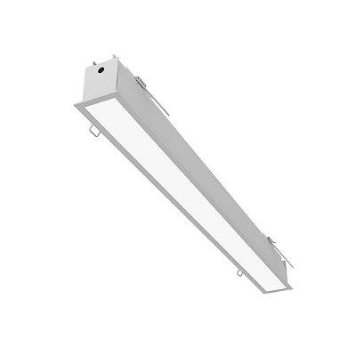 Plafon EMBUTIDO Newline FIT 40 LED Perfil Moderno EM0401LED3 16W 3000K Luz Quente 127/220V 595X52X70MM