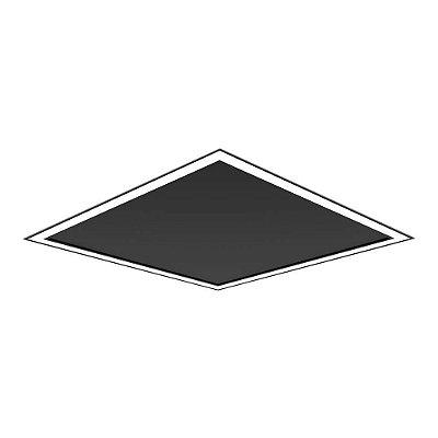 Plafon EMBUTIDO Newline FIT EDGE Led Quadrado Moderno EM0124LED4 32W 4000K Luz Fria 127/220V 616X616X40MM