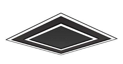 Plafon EMBUTIDO Newline FIT EDGE Led Quadrado Moderno EM0125LED3 65,6W 3000K Luz Quente 127/220V 616X616X40MM