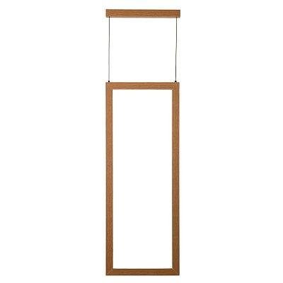 PENDENTE Newline FIT LED Perfil Moderno Madeira 756LED4MD 23,1W 4000K Luz Fria 127/220V 295X28X800MM