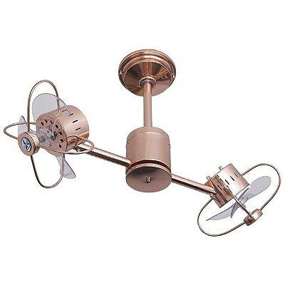 Ventilador De Teto Treviso TRV102 Duplo Infinity Cobre Com Controle