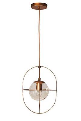 PENDENTE ARGO Usina Design 17150/1 Aramado Moderno com GLOBO DE VIDRO Ø140mm x Ø23x35x1m x 1-E27/G45