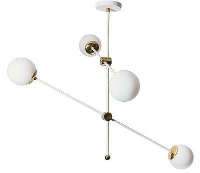 PENDENTE BALTICO  16501/4 Usina Design  Moderno com GLOBO DE VIDRO x Ø12cm x Ø95X67X1m x 4 G9