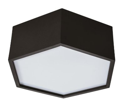 PLAFON HEXA 16420/45  Usina Design Hexagonal Moderno x Ø45x12cm x 4-E27